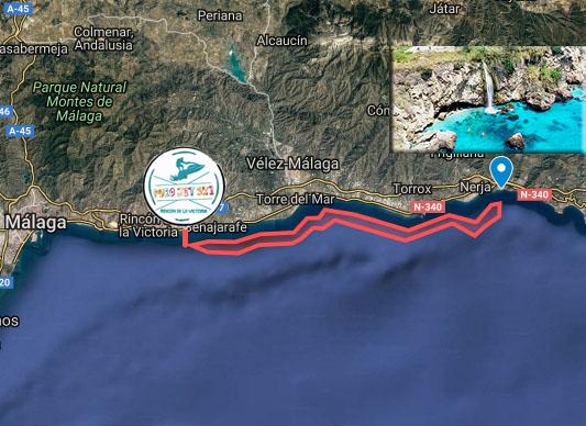 itinerario ruta moto de agua maro